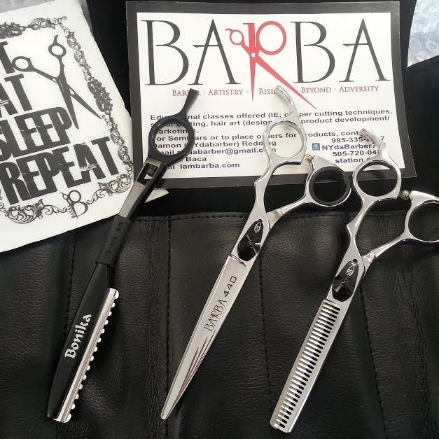BARBA 440 Wet/Dry SHEAR, BARBA 440 SAHARA THINNING SHEAR & SWIVEL TEXTURE RAZOR