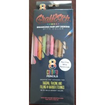 GraffEtch Neon & Hot Color pack with 2 FREE White Pencils included in box as promotion