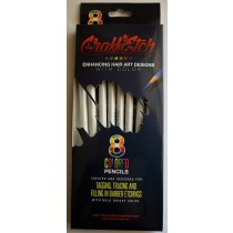 GraffEtch all WHITE Pencil in 8 pack set