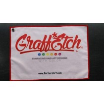 Graff*Etch hand towel with clip